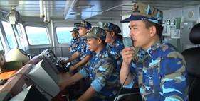 Cảnh sát biển kiên trì biện pháp pháp luật để bảo vệ chủ quyền, quyền chủ quyền trên biển