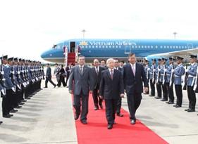 Tổng Bí thư Nguyễn Phú Trọng thăm chính thức Vương quốc Thái Lan