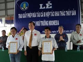 Tàu cá Việt Nam được phép khai thác thủy sản ở ngư trường Indonesia