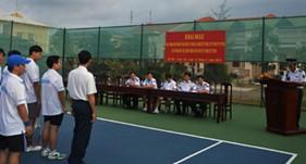 BTL Vùng CSB 3 khai mạc giải Tennis mở rộng năm 2014