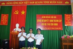 Lễ Công bố quyết định thành lập Chi bộ tàu CSB 6008