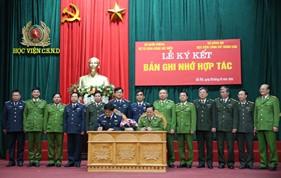 BTL Cảnh sát biển và Học viện Cảnh sát nhân dân ký kết Bản ghi nhớ hợp tác