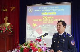 Cụm ĐNPCTP ma túy số 1 tổ chức các hoạt động chào mừng kỷ niệm 70 năm ngày thành lập Quân đội nhân dân Việt Nam