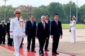 Lãnh đạo Đảng, Nhà nước viếng Chủ tịch Hồ Chí Minh nhân kỷ niệm 124 năm ngày sinh của Người