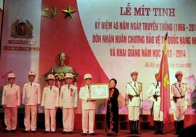 Học viện Cảnh sát nhân dân đón nhận Huân chương Bảo vệ Tổ quốc hạng Nhất