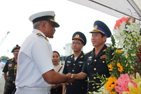 Tàu lực lượng Bảo vệ bờ biển Ấn Độ đến thăm TP.Hồ Chí Minh