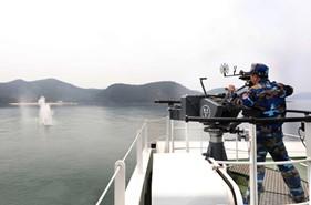 Huấn luyện bắn đạn thật, nghiệm thu kỹ thuật súng, pháo trên các tàu Cảnh sát biển