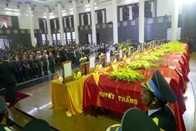 Tổ chức trọng thể tang lễ 9 liệt sĩ hi sinh trong khi thực hiện nhiệm vụ bay tìm kiếm cứu nạn
