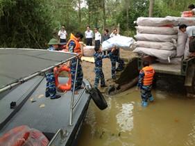 Cảnh sát biển có quyền xử lý vi phạm hành chính trong lĩnh vực phòng, chống lụt, bão