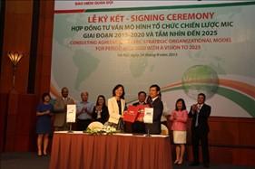 MIC và PwC ký kết hợp đồng tư vấn xây dựng mô hình tổ chức & KPI chiến lược MIC 2015 - 2020 và tầm nhìn đến năm 2015