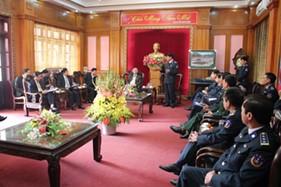 Đoàn Ủy ban Quốc phòng - An ninh của Quốc hội thăm và chúc tết BTL Cảnh sát biển