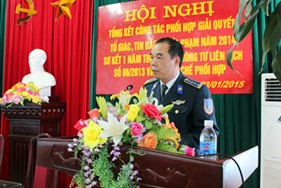 BTL Vùng CSB1 và Viện KSND huyện Vân Đồn (Quảng Ninh) tổ chức Hội nghị ký kết Quy chế phối hợp thực hiện Thông tư liên tịch số 06/2013 về giải quyết, tố giác tin báo về tội phạm