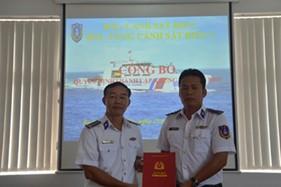 BTL vùng Cảnh sát biển 3 công bố quyết định thành lập khung tàu CSB 8005