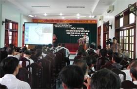 """Cụm Trinh sát số 1 phối hợp tổ chức hội nghị """"Tuyên truyền, phổ biến pháp luật về biển, đảo và bảo vệ chủ quyền biển, đảo Việt Nam"""""""