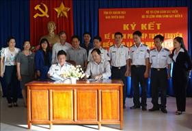 BTL Vùng Cảnh sát biển 3 đẩy mạnh công tác phối hợp tuyên truyền với các địa bàn ven biển
