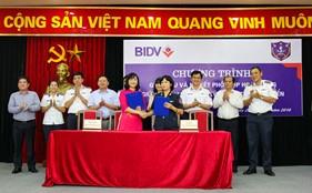 Hội Phụ nữ Cục Kỹ thuật Cảnh sát biển và Ban nữ công Ngân hàng BIDV ký kết chương trình phối hợp hoạt động