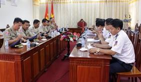 BTL Vùng Cảnh sát biển 4 tiếp và làm việc với đoàn Cục Cảnh sát biển Hoàng Gia Campuchia