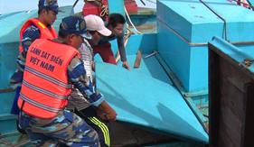 BTL Vùng Cảnh sát biển 4 bắt giữ tàu buôn lậu dầu DO trên biển