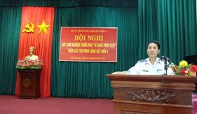 """BTL Vùng Cảnh sát biển 4 tổ chức Hội nghị Rút kinh nghiệm triển khai """"Tủ sách pháp luật"""""""