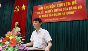"""BTL Cảnh sát biển tổ chức Nói chuyện chuyên đề: """"Lịch sử, truyền thống của Đảng bộ và nhân dân quận Hà Đông"""""""