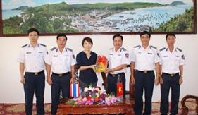 Phó tổng Lãnh sự quán Thái Lan thăm và chúc Tết Bộ Tư lệnh Vùng Cảnh sát biển 4
