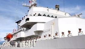 Tàu huấn luyện Cảnh sát Biển Nhật Bản thăm Đà Nẵng