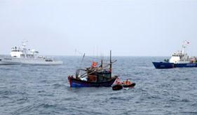 Kết thúc tốt đẹp chuyến kiểm tra liên hợp nghề cá Việt Nam - Trung Quốc năm 2014