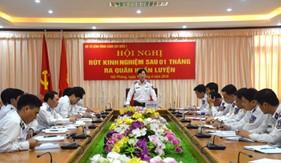 BTL Vùng Cảnh sát biển 1 tổ chức rút kinh nghiệm sau một tháng ra quân huấn luyện