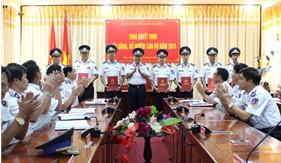 BTL Vùng Cảnh sát biển 4 trao Quyết định Điều động, bổ nhiệm cán bộ năm 2016