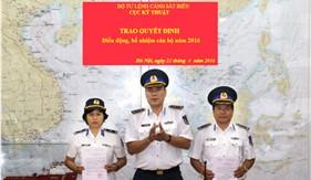Cục Kỹ thuật Cảnh sát biển trao quyết định điều động, bổ nhiệm cán bộ năm 2016