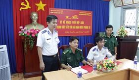 Cụm Trinh sát số 2 và Hải đoàn Biên phòng 18 ký kết kế hoạch phối hợp hoạt động