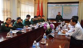 Đoàn công tác của Tổng Cục chính trị thăm, kiểm tra BTL Vùng Cảnh sát biển 2