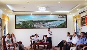 Đoàn công tác Ban Tuyên giáo Tỉnh ủy Kiên Giang thăm BTL Vùng CSB 4