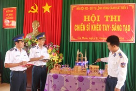 Hải đội 402 tổ chức hội thi chiến sĩ khéo tay - sáng tạo