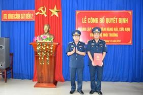 Thành lập Trung tâm Hàng hải, cứu nạn và bảo vệ môi trường trực thuộc BTL Vùng Cảnh sát biển 2