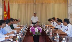 Phó chủ tịch tỉnh Quảng Nam làm việc với BTL Vùng Cảnh sát biển 2