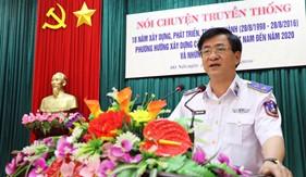 Nói chuyện truyền thống về 18 năm xây dựng, phát triển và trưởng thành của Lực lượng Cảnh sát