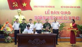 BTL Cảnh sát biển nhận bàn giao tàu TT400