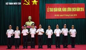 Bộ Tham mưu Cảnh sát biển trao quyết định quân hàm và nâng lương QNCN năm 2016