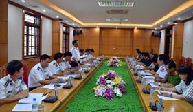 Văn phòng Ban Chỉ đạo 389 Quốc gia làm việc tại BTL Vùng Cảnh sát biển 1