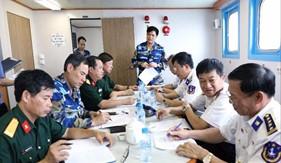 Nghiệm thu kỹ thuật tàu vận tải đa năng, tiếp dầu trên biển của Lực lượng Cảnh sát biển