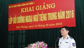BTL Vùng Cảnh sát biển 1 khai giảng lớp bồi dưỡng ngoại ngữ tiếng Trung Quốc năm 2016