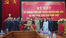 BTL Vùng Cảnh sát biển 2 ký kết kế hoạch phối hợp tuyên truyền biển, đảo