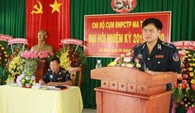 Tư lệnh Cảnh sát biển thăm và dự Đại hội Chi bộ lần thứ III, nhiệm kỳ 2015-2020 của Cụm ĐNPCTP ma túy số 4