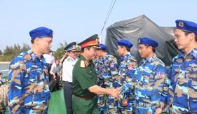 Đoàn công tác của Bộ Tổng tham mưu thăm, kiểm tra BTL Vùng Cảnh sát biển 2