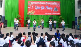 """Tuổi trẻ BTL Vùng Cảnh sát biển 3 giao lưu văn nghệ """"Mừng Đảng, mừng Xuân"""" năm 2017"""
