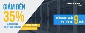 Mừng tuổi lên 9, Viettel IDC giảm giá khủng Cloud Server, Hosting