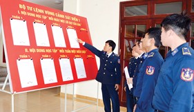 Công tác đảng, công tác chính trị trong huấn luyện chiến đấu ở BTL Vùng Cảnh sát biển 1