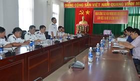 Văn phòng Thường trực BCĐ 389 Quốc gia làm việc với BTL Vùng Cảnh sát biển 3
