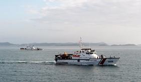 BTL Vùng Cảnh sát biển 4 hoàn thành tốt nhiệm vụ huấn luyện vòng tổng hợp và bắn đạn thật trên biển